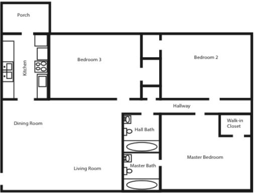 The Sequoia - Three Bed, Two Bath (3x2)